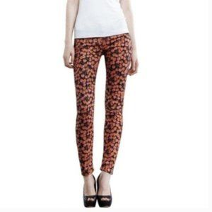 Mother Jeans The Looker Skinny Fit Cherry Print